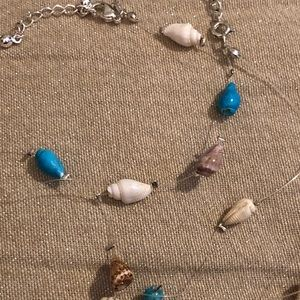 """Jewelry - """"Invisible"""" seashell necklace and bracelet set"""